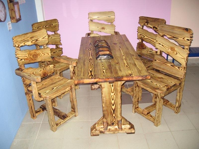 Деревянные столы под старину своими руками 19