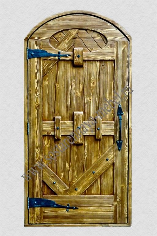 Двери из дерева под старину своими руками фото 96